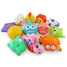 12pcs Cute Baby Bath Toys Soft Rubber Animals Floating Animals Kids Children Toy