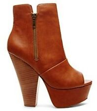 STEVE MADDEN GROUPIEE COGNAC ANKLE BOOT SIZE 9.5