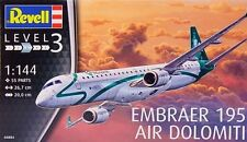 "EMBRAER 195 ""AIR DOLOMITI"" REVELL 1/144 PLASTIC KIT"
