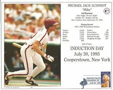 MIKE SCHMIDT 8x10 CARD Cooperstown HOF Induction Marilyn Monroe Stamp w/Postmark