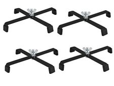 4 x Par Can Floor Stand Black Metal Lighting Stand Uplighting DJ Disco Light