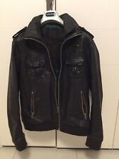Superdry brad leather jacket mens giubbotto