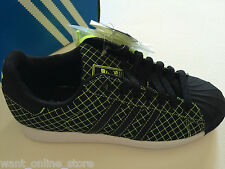 NEW Adidas Superstar LTO Sneakers Black Green Grid Size US Men 5 / UK Men 4.5