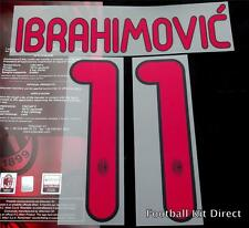 AC Milan Ibrahimovic 11 2011/12 Football Shirt Name/number Set Away serie a