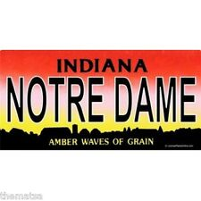 NOTRE DAME INDIANA ND  METAL LICENSE PLATE AUTO CAR TAG MADE IN USA
