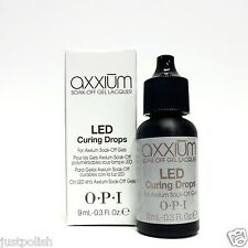 OPI Axxium LED CURING DROPS for Axxium Soak Off Gels .3oz/9ml ~2 Bottles~