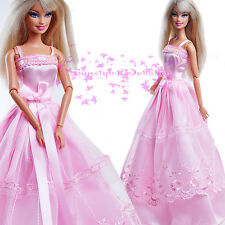 ON Sale New Sweet Pink wedding Gown Dress  for Barbie Disney Doll clothes