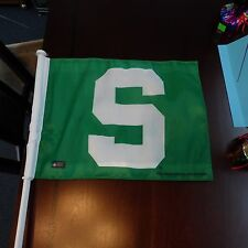 "SPARTAN MICHIGAN STATE CAR AUTO FLAG GO GREEN MSU FOOTBALL Sports 11"" x 15"" All"