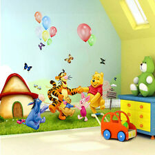 DIY Winnie The Pooh Wall Decals Kids Room & Baby Nursery Stickers Art Decor Home