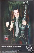 """STATIC X """"WAYNE STATIC HOLDING HIS GUITAR"""" U.S. PROMO POSTER - Alt Metal Music"""