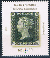 3173 ** BRD 2015, Tag der Briefmarke (One Penny Black)