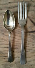 WW2 AUSTRALIAN ARMY BROAD ARROW  MARKED FORK & SPOON  - NICKEL SILVER