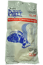 Royal Prince Hand Held Vacuum Cleaner Style H Bags