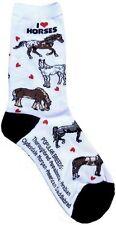 Love Horses (6601) Women Socks Cotton New Gift Fun Unique Fashion