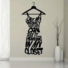 PVC Wall Sticker Art Decal for Clothes Bedroom Clothes Shop Women Closet