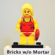 New Genuine LEGO Lifeguard Minifig with Float Series 2 8684