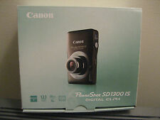 Canon PowerShot Digital ELPH SD1300 IS Brown Camera NEW in box