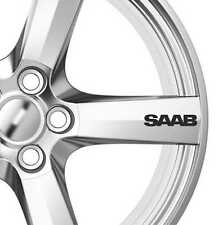 6x Saab Alloy Wheels Decals Stickers Adhesives Premium Quality Car Sticker