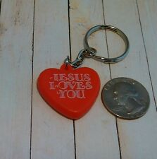 Jesus Loves You Heart Novelty Keychain Fob