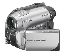 SONY HANDYCAM DCR-DVD110E CAMCORDER DVD VIDEO DISC / MEMORY STICK & CASE