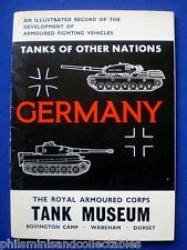 Bovington Tank Museum Guide Book  - German Tanks    1973