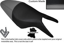 BLACK & GREY CUSTOM FITS CAGIVA RAPTOR 650 1000 DUAL LEATHER SEAT COVER ONLY
