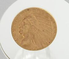 1909 P Indian Head Half Eagle $5 Gold US Coin Low Mintage 8.36g 90% Au VF Fine