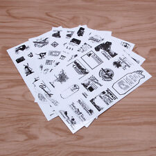 6pcs Vintage Paper Stamp Diary Book Sticker Scrapbook Planner Label Decoration