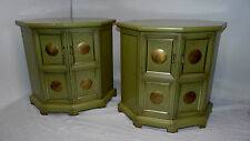 Vintage MCM Modern Pair Chests Spanish revival Hollywood regency Draper era