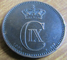 1904 VBP Denmark 5 Ore Bronze Coin - Low Mintage Year