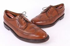 VTG FLORSHEIM IMPERIAL LEATHER WING TIP OXFORD DRESS SHOES USA MENS 10.5 E