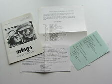 PAUL McCARTNEY AND WINGS  FUNCLUB MAGAZINE NOVEMBER 1975  ALL INSERTS