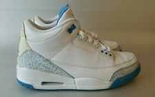 Jordan 3 Retro, Men's sz. 8.5/Women's 10, Harbor Blue/White Nike Air(1,4,6,9,11)