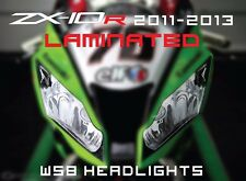 ZX-10R 2011-2013 Kawasaki Headlight sticker set WBS race graphics track zx10r