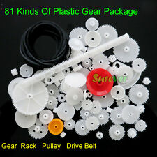 81 Kinds Of Plastic Gear Set Pulley/Drive Belt/Gear/Rack Deceleration 0.5 module