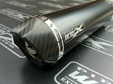 Triumph Street Triple Daytona 675 2013+ Black Round Carbon Outlet Exhaust Can