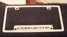 GM C5 CORVETTE LOGO LICENSE PLATE FRAME STAINLESS STEEL