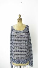 AEROPOSTALE Blue Open Knit Lightweight Scoop neck Juniors Layering Sweater XL