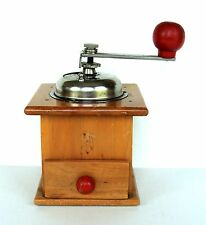 Vintage Home Kitchen Style Coffee Grinder Mill Beech Wood MidCentury Drawer Old