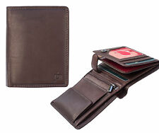 NEW Prime Hide Chelan Collection Mens Small Brown Leather Wallet - 5003