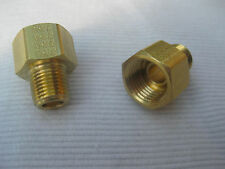NORS CHEVY 1955 - 1961 Cast Iron POWERGLIDE COOLING LINE BRASS FITTING Set/2