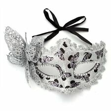 Mask Masquerade Costume Prop Silver Halloween Fancy Dress Ball Party Xmas LW
