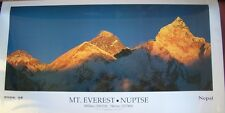 Mount Everest Nuptse Poster Himalayan Panorama 17 X 33 Inches