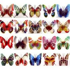 12x Luminescent Cute Butterfly Magnetic Sticker Fridge Room Wall Car Decoration