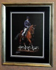 """Dressage"" Horse Art by Wakefield in 23""x27"" Frame (MS146)"