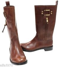 Tory Burch Stowe Flat Sienna (brown) Boots- NEW SIZE US 10.5 M