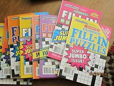 Penny's Famous Fill-In Puzzles Lot of 8 Jumbo Price Lowered READ INFO BELOW