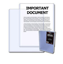 1- 8.5x11 BCW Toploaders Rigid Plastic Sleeve Protect Photo or Autograph