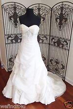 G48 SOFIA TOLLI SZ 10 IVORY STRAPLESS WEDDING DRESS