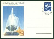 Vatican City 1949 13L FDC Postcard, All Line Same, Fountain Picture